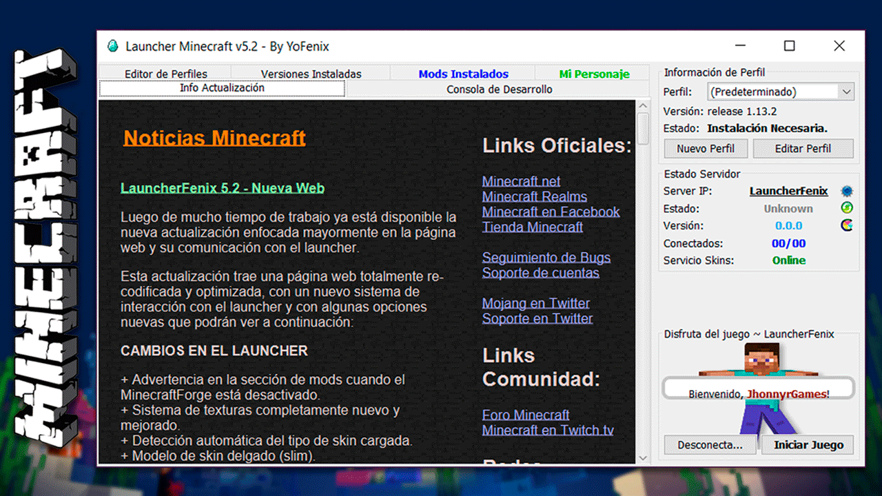 Descargar Minecraft Launcher