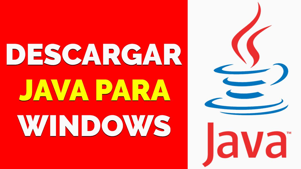 Descargar Java para windows