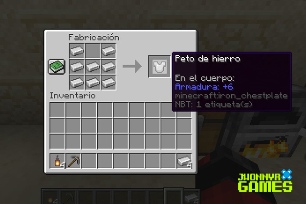Armaduras de hierro en Minecraft