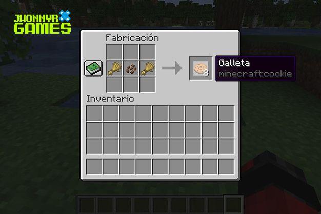 Cómo hacer galletas en Minecraft