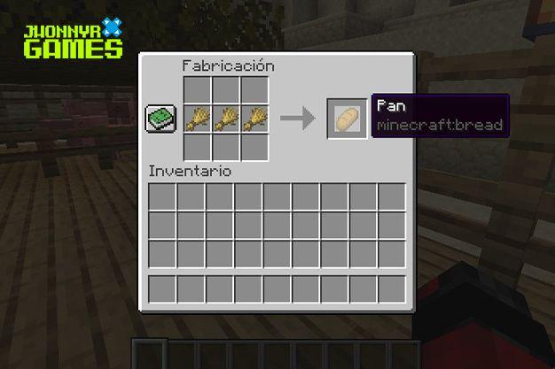 Cómo hacer pan en Minecraft
