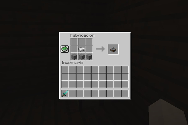 Como hacer un corta piedras en minecraft