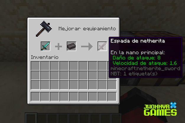 Como usar mesa de herrería en Minecraft