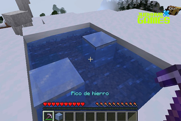 Conseguir hielo en Minecraft