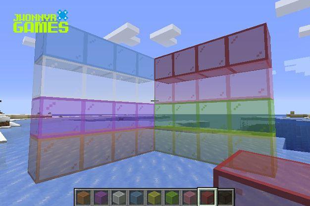 Cristales tintados en Minecraft