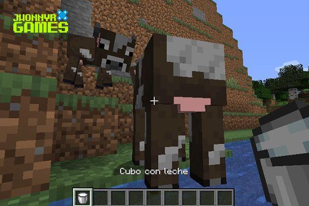 Cubo con leche en Minecraft