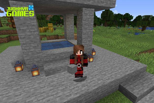 Fuente de agua automática en Minecraft