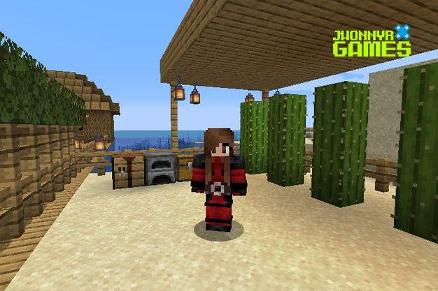 Granja de cactus en Minecraft