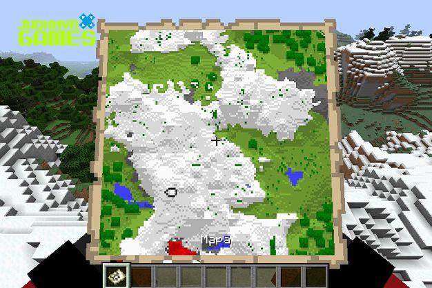 Mapa del tesoro en Minecraft