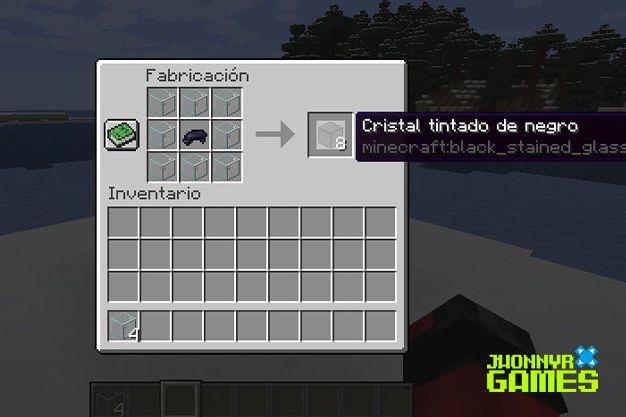 Materiales para tintar cristal en Minecraft