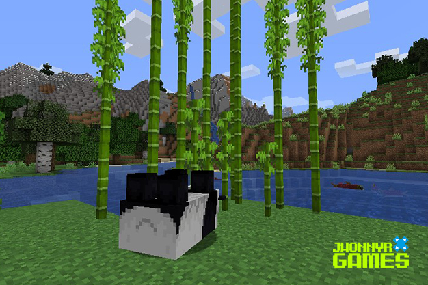 Pandas en Minecraft