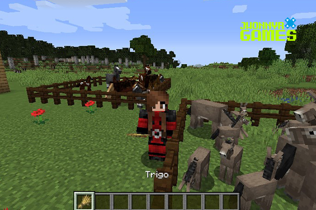 Reproducir burros en Minecraft