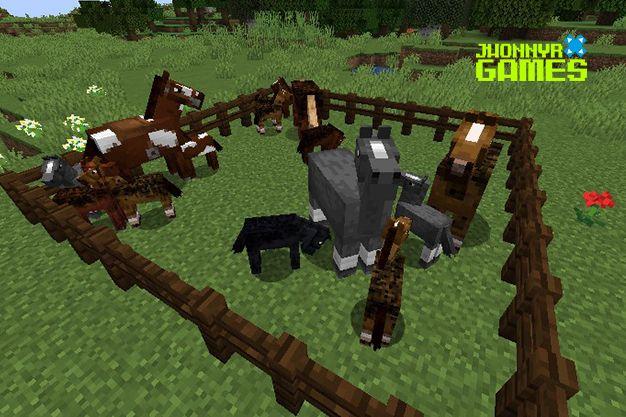 Reproducir caballos en Minecraft