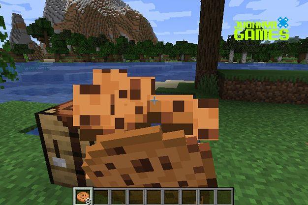 Usos de la galleta en Minecraft