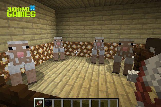 Usos de las tijeras en Minecraft
