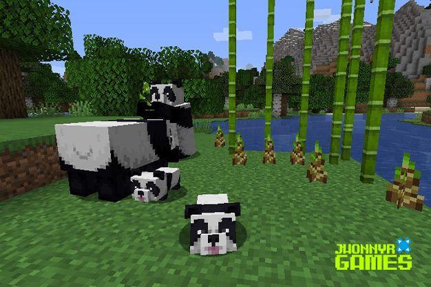 Usos del bambú en Minecraft