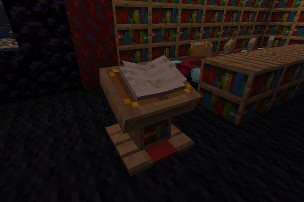 ¿Cómo hacer un atril en Minecraft?