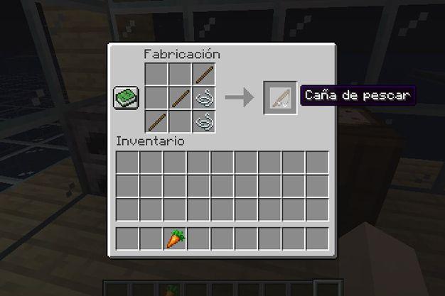 caña de pescar en minecraft
