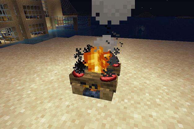 cocinar en fogata en minecraft