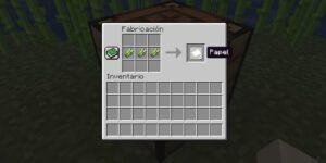 como crear hojas de papel en minecraft