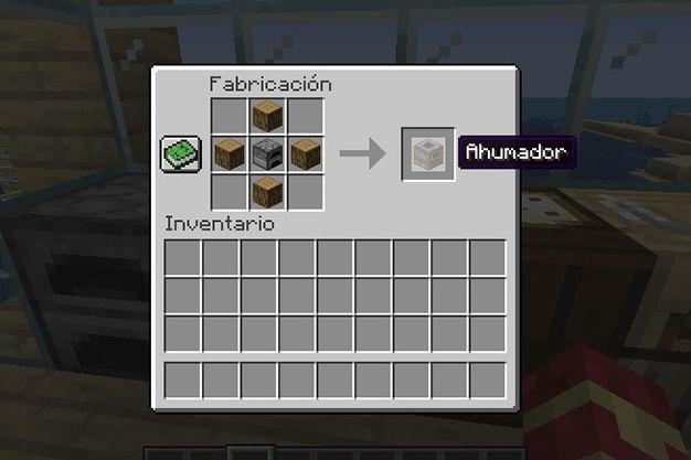 como crear una ahumador en minecraft