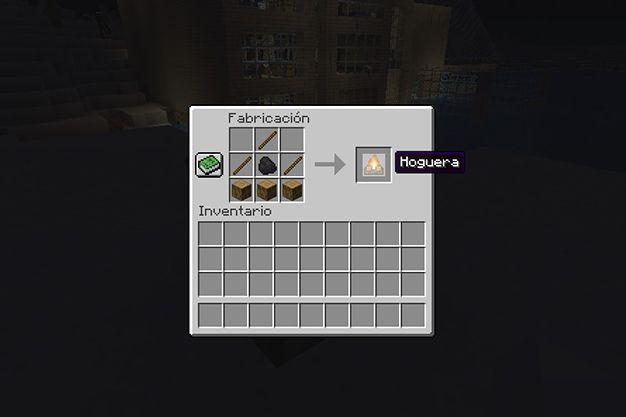 como crear una fogata en minecraft