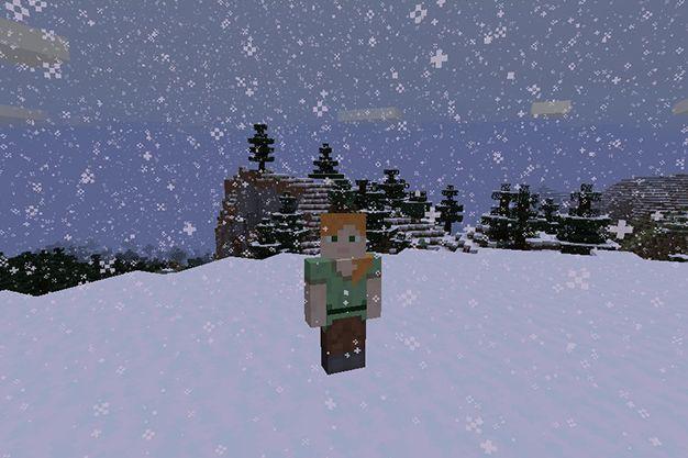 como hacer nevar en minecraft