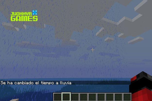 como hacer que llueva en minecraft