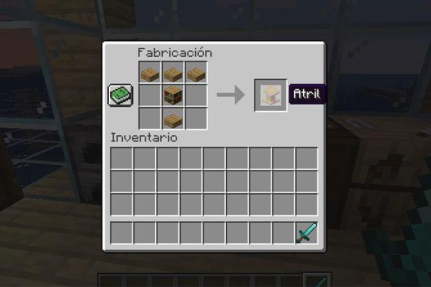 como hacer un atril en minecraft
