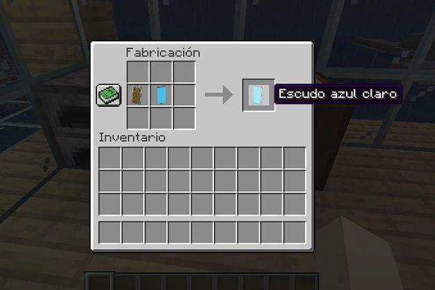 escudo azul claro en minecraft