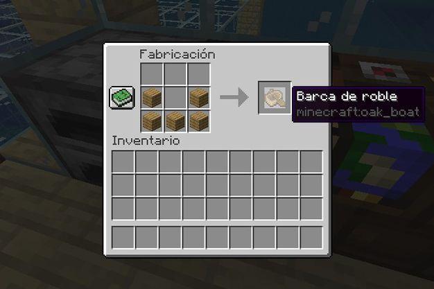 materiales para crear un bote en minecraft