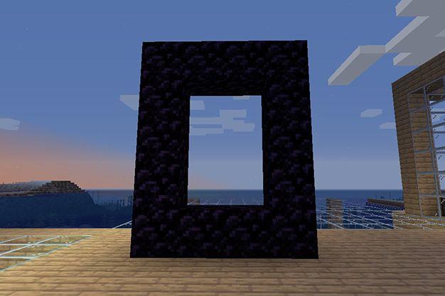 portal de nether con mechero